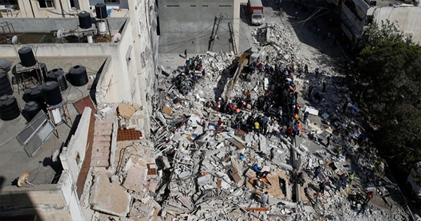 The house of the chief of Hamas in Israel Airstrike devastated UN immediately asked to stop the war