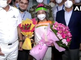 Tokyo Olympics Medalist Mirabai Chanu returned home received a warm welcome