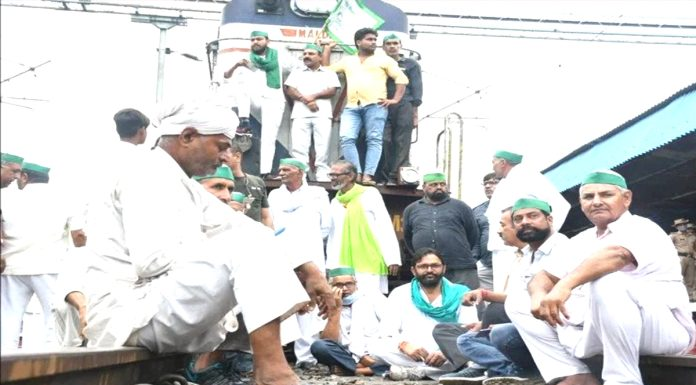 Farmers rail stop movement today the effect can be seen in the whole country