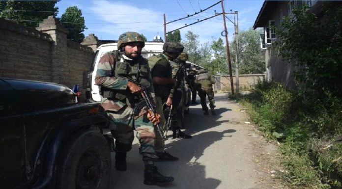 Kahsmir Security forces killed two terrorists operation is still going on