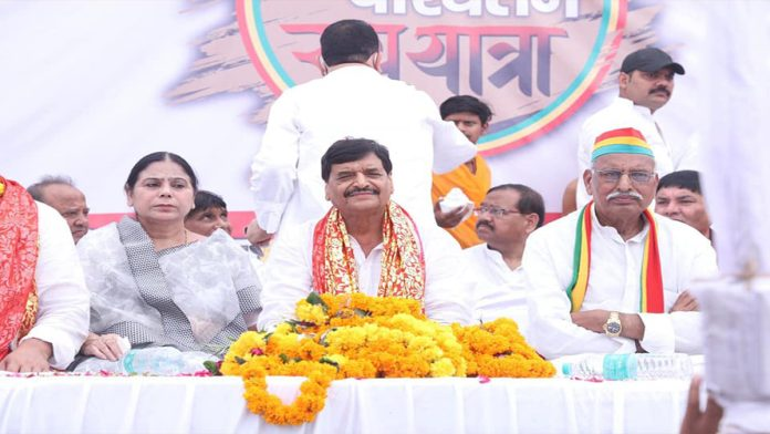 UP Shivpal Yadav also started his Rath Yatra Praspa will show strength in the entire state